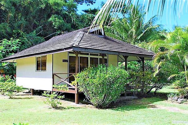 Bungalow de la Pension Titaina à Tahaa